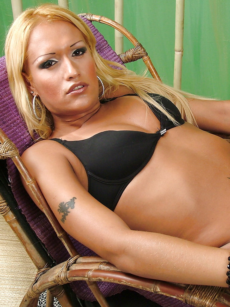 Solo Latina Tgirl Michelly Ferraz Showing Off Tattoos In Mesh Stockings
