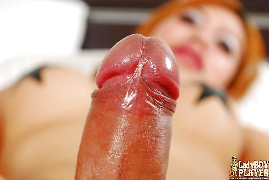 Solo Redheaded Thai Ladyboy Jenny Masturbating Off Shecock Until Cumshot