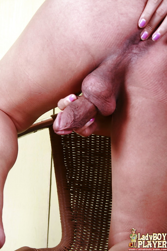 Solo Thai T-Girl Celine Wanking Hairy Shecock To Cumshot Ending