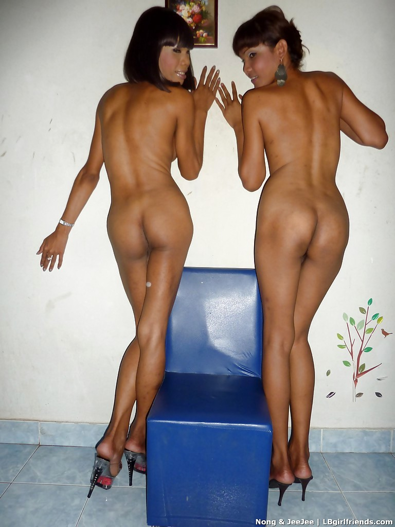 Starved Asian T-Girls Nong And Jee Jee Playing With Each Other And Masturbating Off