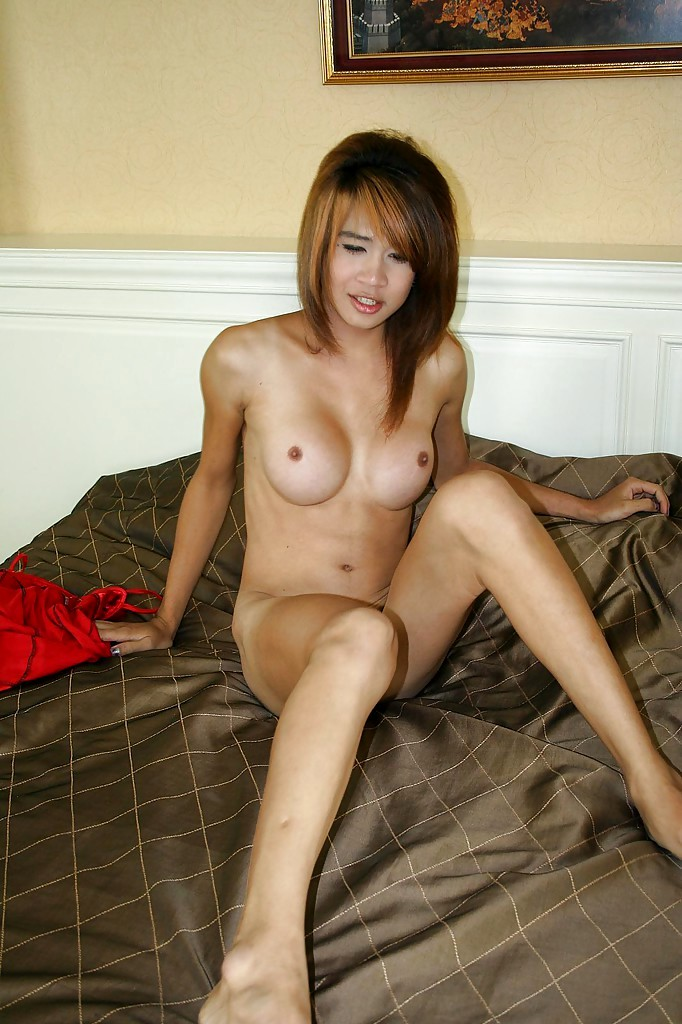 Starved Thai Tgirl Teen Getting Smashed No Condom And Showing Her Tits