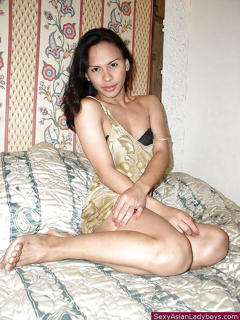 Sweet Thai Transexual With Penis In Hand Posing Nude After Underwear Removal