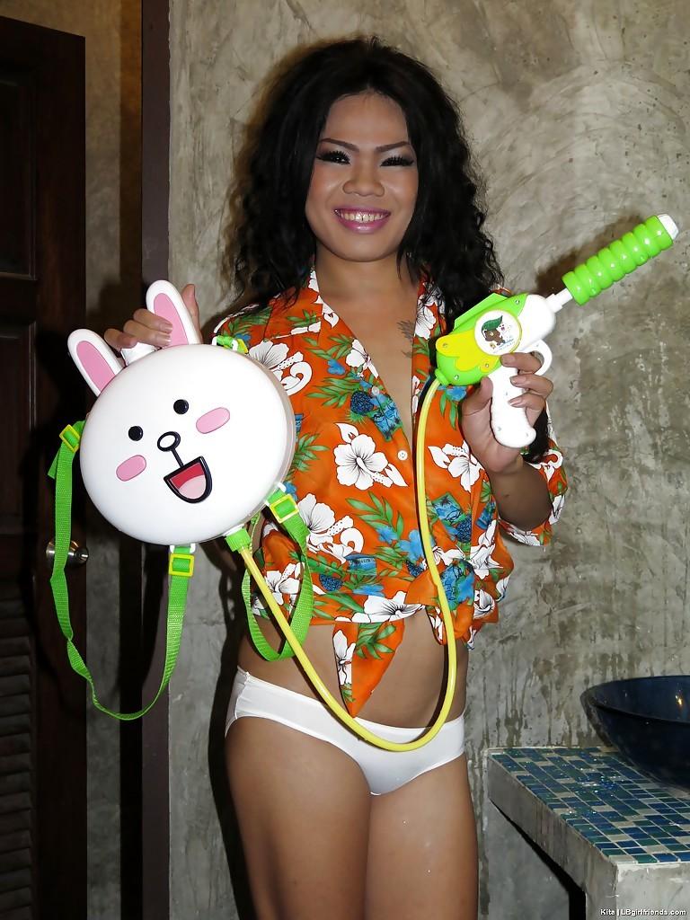Tattooed Thai Tgirl Kita With Jizz Dripping Anus After No Condom Anal Sex