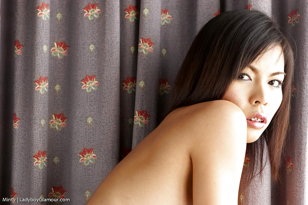 Thai Femboy Minty Whips Out Shedick For Jerk Off Session In Panties
