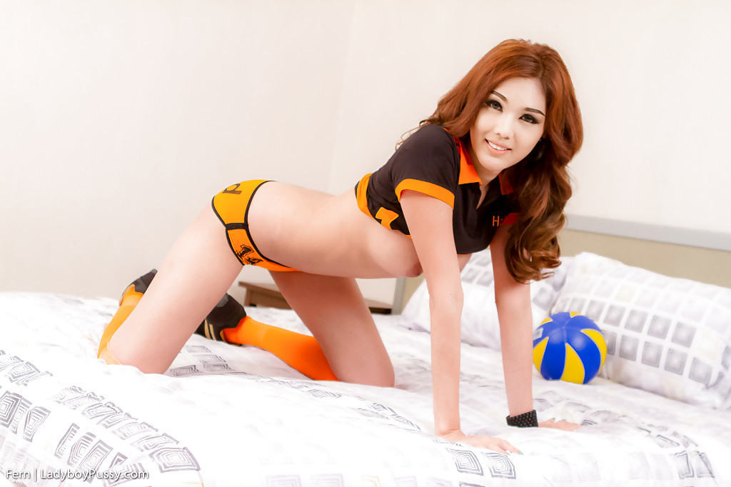 Turning Football Into A Fantasy With Thai Ladyboy Fern And Her Vibrator