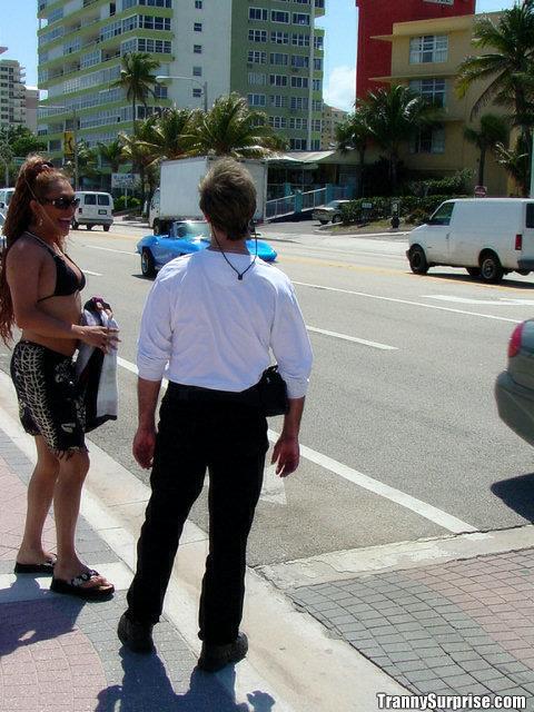 Wild Latina Tranny Ariel Fucking A Man's Bum Doggystyle